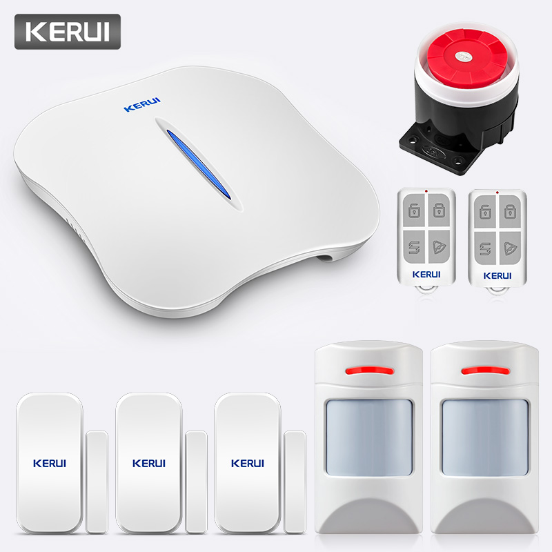 KERUI W1 Voice Prompt Home Security Wireless WiFi PSTN Anti-Pet Alarm System APP Control Linkage Alarm Call Push Alert System image