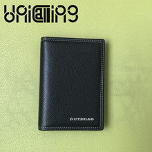 Fashion Business Genuine Leather men credit card holder solid color Top grade id card holder cow leather small Card holder