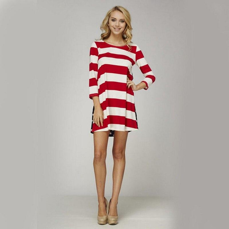 rood wit gestreepte jurk