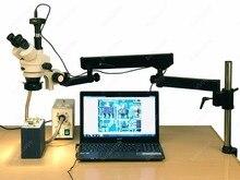 Articulating Stereo Microscope–AmScope Supplies 3.5X-180X Fiber Ring Articulating Zoom Stereo Microscope + 1.3MP Digital Camera