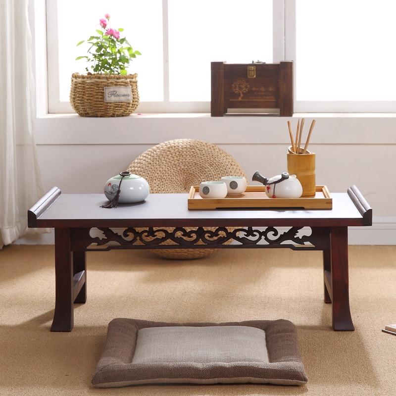 Asian Wood Furniture Korean Dining Table Folding Leg Rectangle