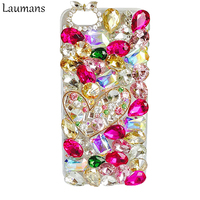 Hot Sale Diamond Phone Case For Iphone 7plus Rhinestone Crystal Plastic Hard Back Skin Cover Shell