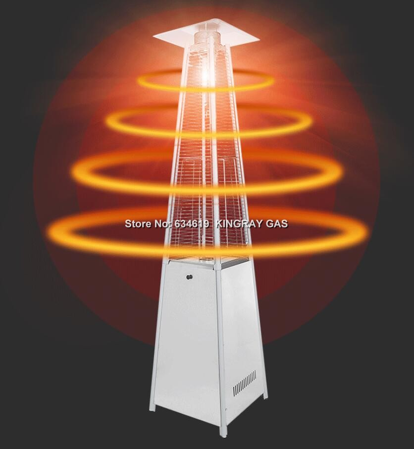Tower-shaped mobile indoor outdoor gas infrared radiant heater home commercial gas patio heater gas infrared heater with wheels