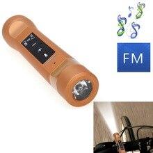Equitação Ciclismo Multi-Função Tocha Música Falantes Sem Fio Bluetooth Speaker Música MP3 + Carregador Power Bank + Lanterna + rádio FM