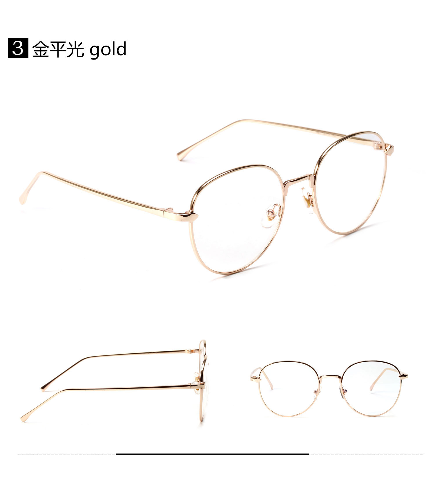 7ec5a7da5f7c 2019 CCSPACE Metal Oval Ladies Glasses Frames For Women Arrow Round ...