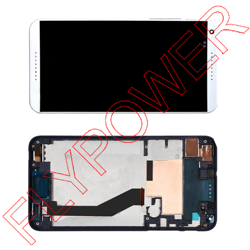 ФОТО For HTC Desire 816H D816h LCD Display with Digitizer Touch Screen Assembly with Frame White Color free shipping
