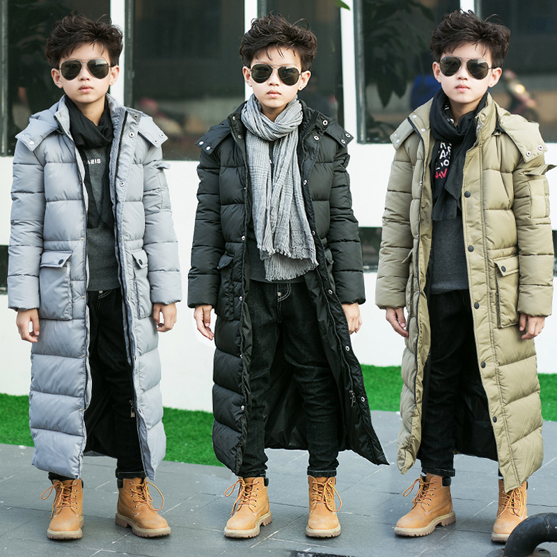 ФОТО The boy padded long thick jacket padded jacket winter long in England