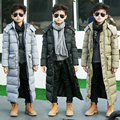 The boy padded long thick jacket padded jacket winter long in England