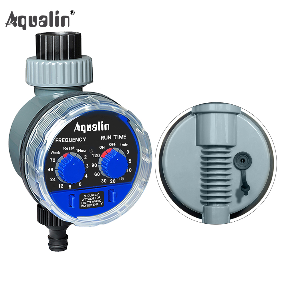 Garden Water Timer Upgraded Version Ball Valve with Rain Sensor Hole Garden Irrigation Controller Watering System