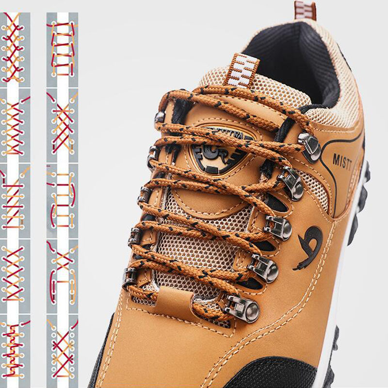 Spring and Autumn Man Sports Shoes Casual Wearable Hiking Sneakers Male Non-slip Running Quality Leather Shoes Large size 47 2