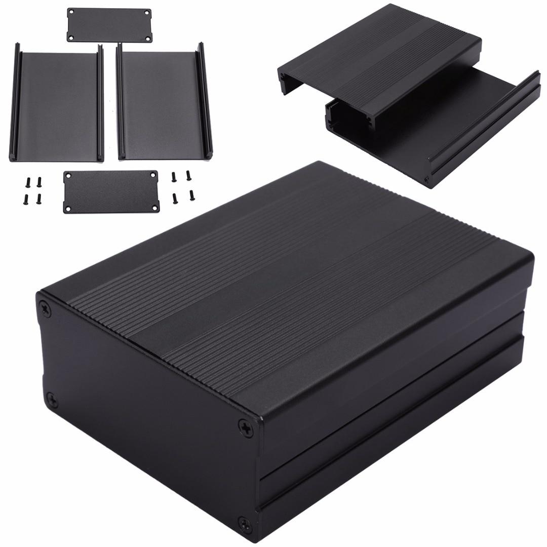 Black Extruded Aluminum Enclosures PCB Instrument Electronic Project Box Case 100x76x35mm