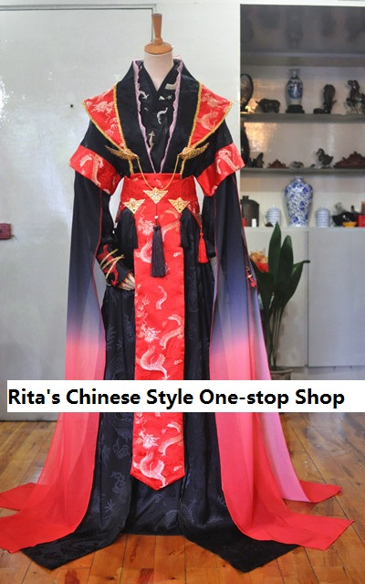 1707 3 Colors Male Tailed Costume Hanfu Cosplay Stage Performance Costume for Photography Jinlichao Male Costume