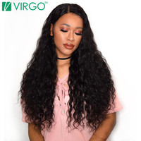 V Only Virgo Peruvian Human Hair Water Wave Non Remy Hair Weave Bundles One Piece Hair