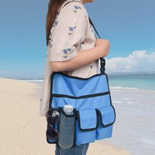Hanging Storage Bag Swimming Beach Chair Phone Sunglasses Water Bottle Pouch Handy Pockets Straps Tote Bag Portable Shoulder Bag(China)