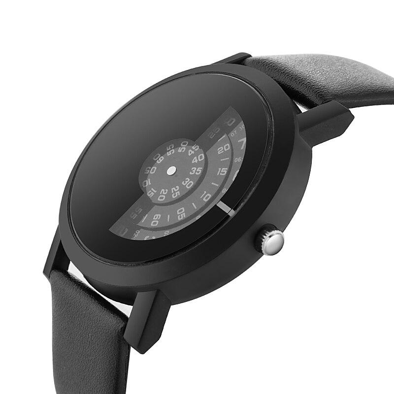 854022066d75 Único de las mujeres reloj correa de cuero estilo moderno relojes de ...