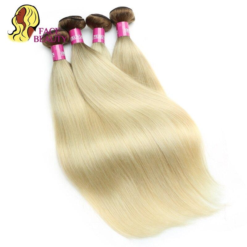 Facebeauty 8 30 Inch T8 613 Ombre Color 2 Tone Blonde Human Hair Bundles Brazilian Straight