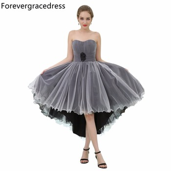 Forevergracedress Real Picture New Design Cocktail Dress Fashion Sweetheart Backless High Low Homecoming Party Gown Plus Size