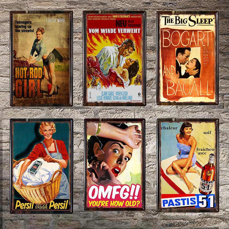 Americano Retro Poster Spille Up Girl Tin Firma Decorazione Placca di Metallo Vintage Cafe Club Bar Muro Decorativo Complementi Arredo Casa 20x30X001