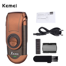 Kemei Portable Electric Shaver 3D Double Floating Rechargeab