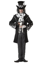 Adult Mens Alice in Wonderland Mad Hatter Costume Character Fairytale Book Day Week Fantasia Fancy Dress