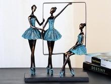 Элегантный Минималистский абстрактный балет девочек танцор Скульптура Смола Craft Украшение аксессуары для украшения дома и подарок