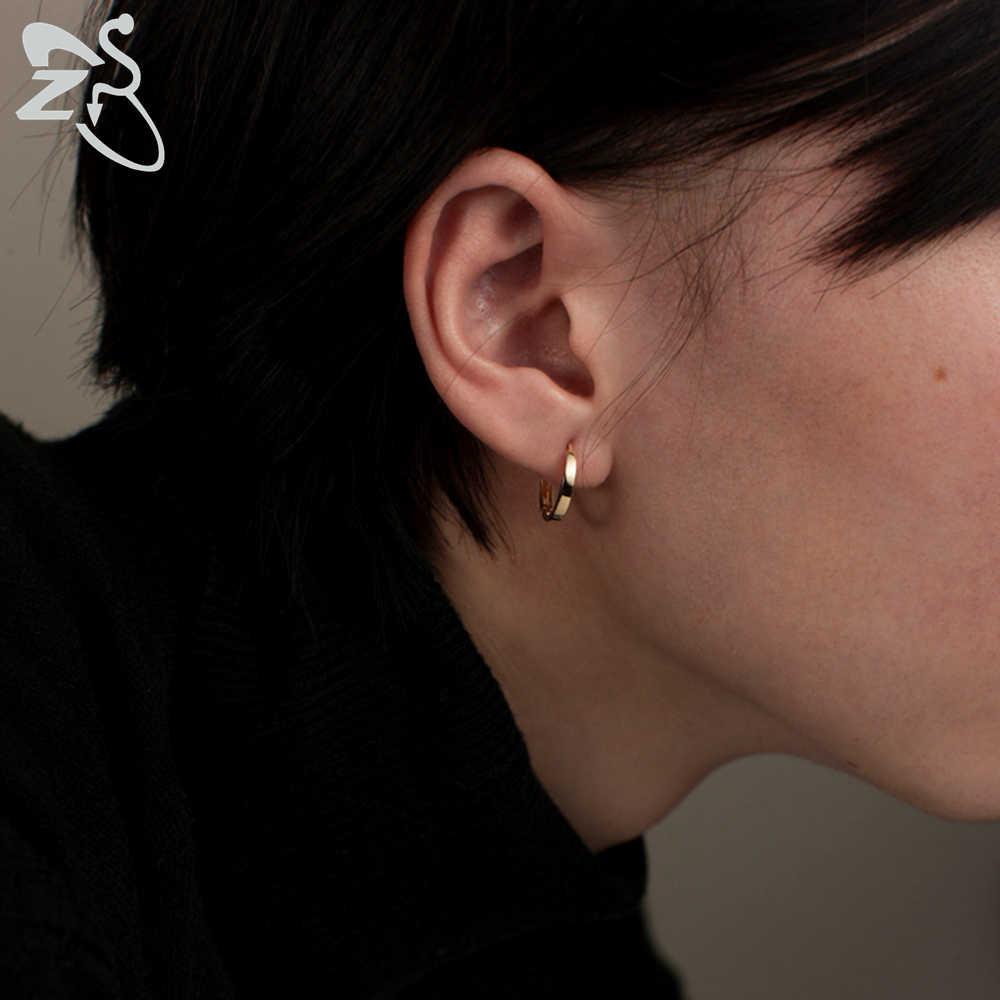 ขนาดเล็ก Hoop ต่างหูผู้หญิงต่างหูวงกลมชายสแตนเลสสตีลสูงรอบต่างหูเครื่องประดับชายหูเจาะเครื่องประดับ Bijoux