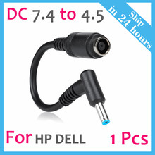 Ac Energy Twine Charger Laptop computer Adapter Tip Connector Converter for Hp Pavilion Envy Elitebook Dell Latitude XPS Precision