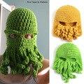 Halloween handmade octopus shape sleeve cap headgear crochet knit wool cap