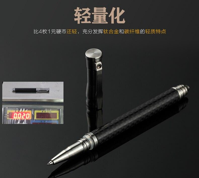carbono + titânio tático caneta cabeça de