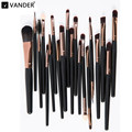 Vander Professional 20pcs Makeup Brushes Set Powder Foundation Lipstick Brush Eyeshadow Eyeliner Cosmetics Kits Pincel maquiagem