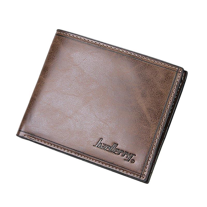 Baellery Trifold Men Wallet Leather Purse Fashion Small Vallet Brand Card Holder Mens Money Wallet Portomonee Wholesale Price wallet