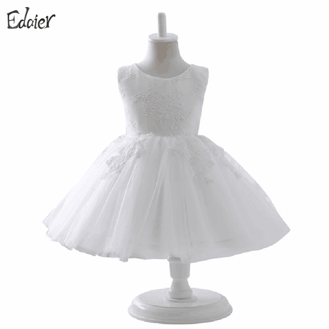 5028b197fc Biały Kwiat Dziewczyna Sukienki Na Wesele Koronki Tiul Pierwszej Komunii  Dress Dzieci Suknia Balowa Suknia Ślubna