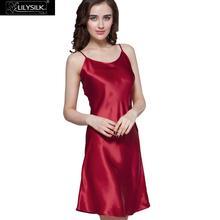 Lilysilk Женщин шелковой ночной рубашке сексуальная Ночная сорочка 100% шелковицы короткое женское 22 momme ночнушка на бретельках женская сорочка женское летнее платье 2016 белье женское