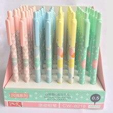 купить 48pcs/1lot Cartoon Nordic Simplicity Press Mechanical Pencils School Office Supply Student Stationery Kids Gift Automatic Pencil дешево