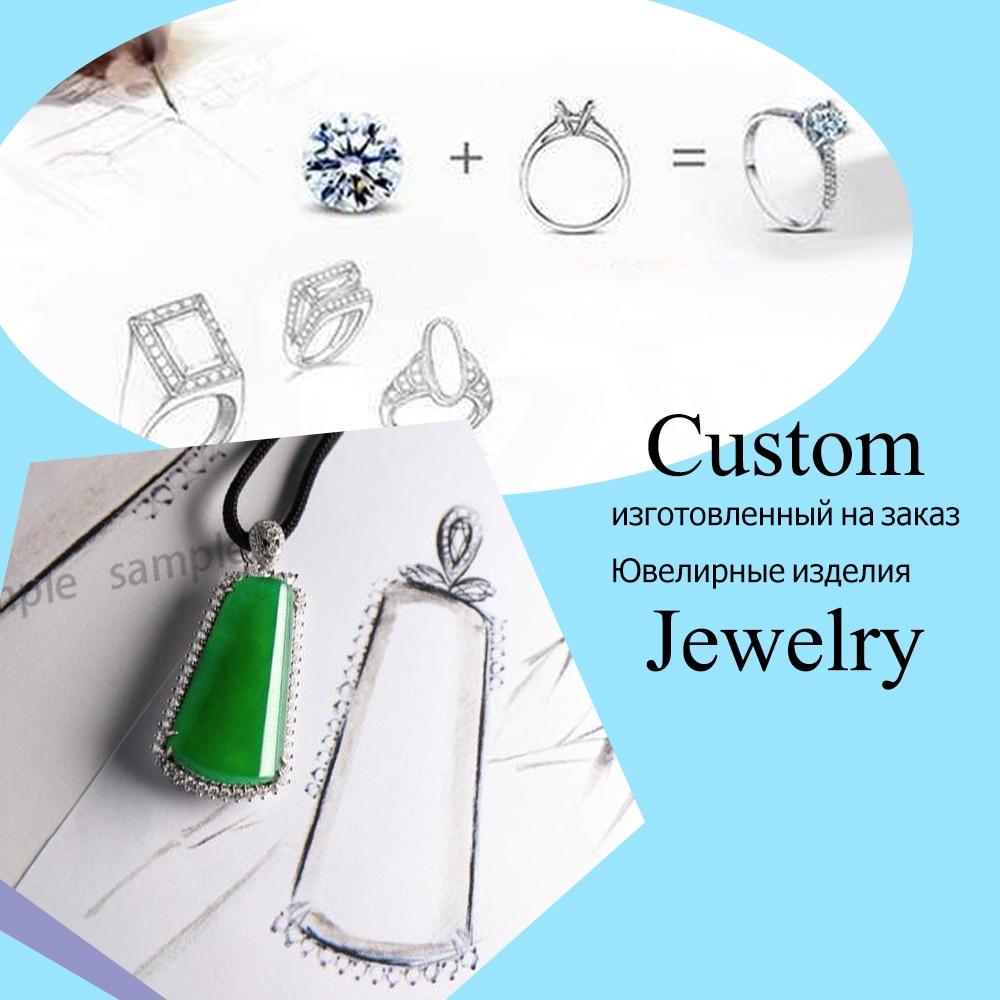 Пользовательские Fine Jewelry в 14 К золото 18 К золото (перед заказ, пожалуйста, свяжитесь с нами) (это для 10 К чтобы Ханна kong)