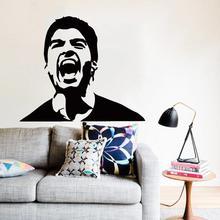 Art Design home decoration Vinyl football player Luis Suarez Wall Sticker removable house decor soccer star sports decals