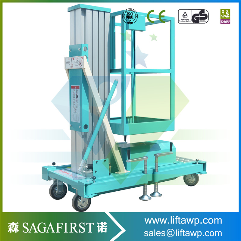 Aerial Aluminum Single Mast Working Platform Long High Lift