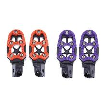 2pcs 8mm Hole Aluminum Off-road Motorcycle Motorcross Foot Pedals Footrests Universal Modification Parts Motor Accessories