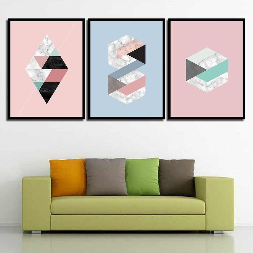 Minimalism Marble Geometric Graphics Painting Modern Office Canvas Wall Art Pictures Nordic Fashion A4 Prints Poster Home Decor