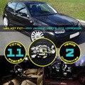 11x5630 5730 Luz de la matrícula del LED Canbus Dome Mapa Guantera Interior Fit Kit para VW Golf GTI Jetta MK4 1999-2005 Blanco #106