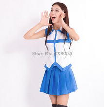 Hot Sale Women Girl Sexy Japanese School Uniform Costume Fantasia Lucy Heartfilia Anime Fairy Tail Cosplay