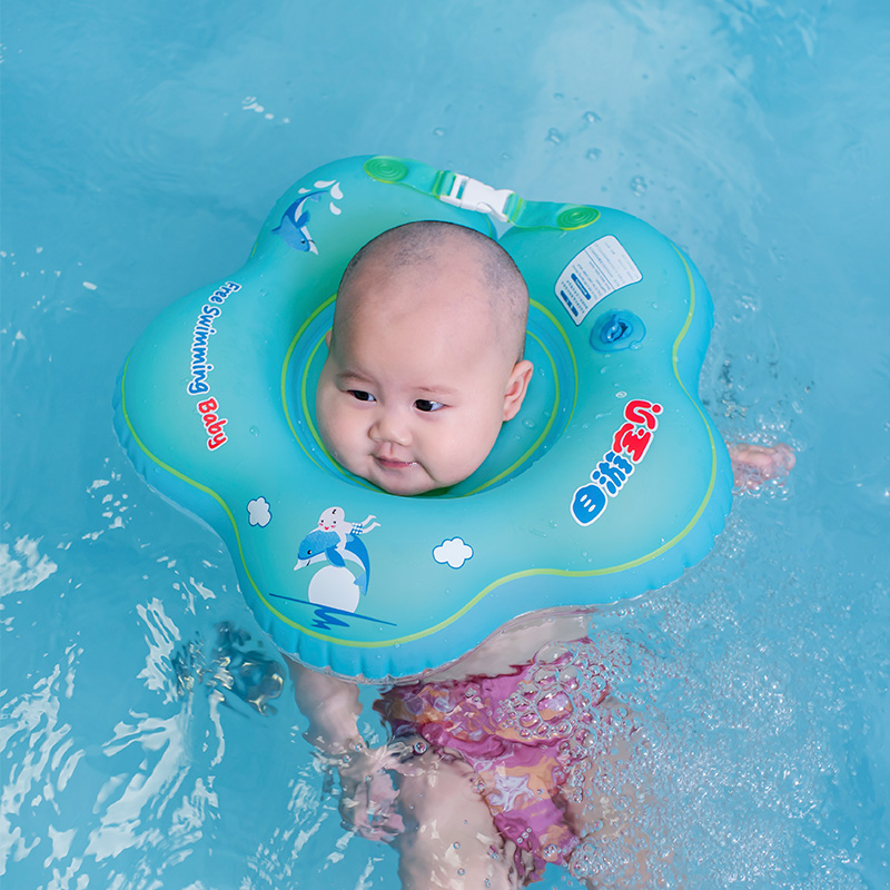 1 12 Months Infant Swimming Neck Float Flower Pool Floats For Baby ...