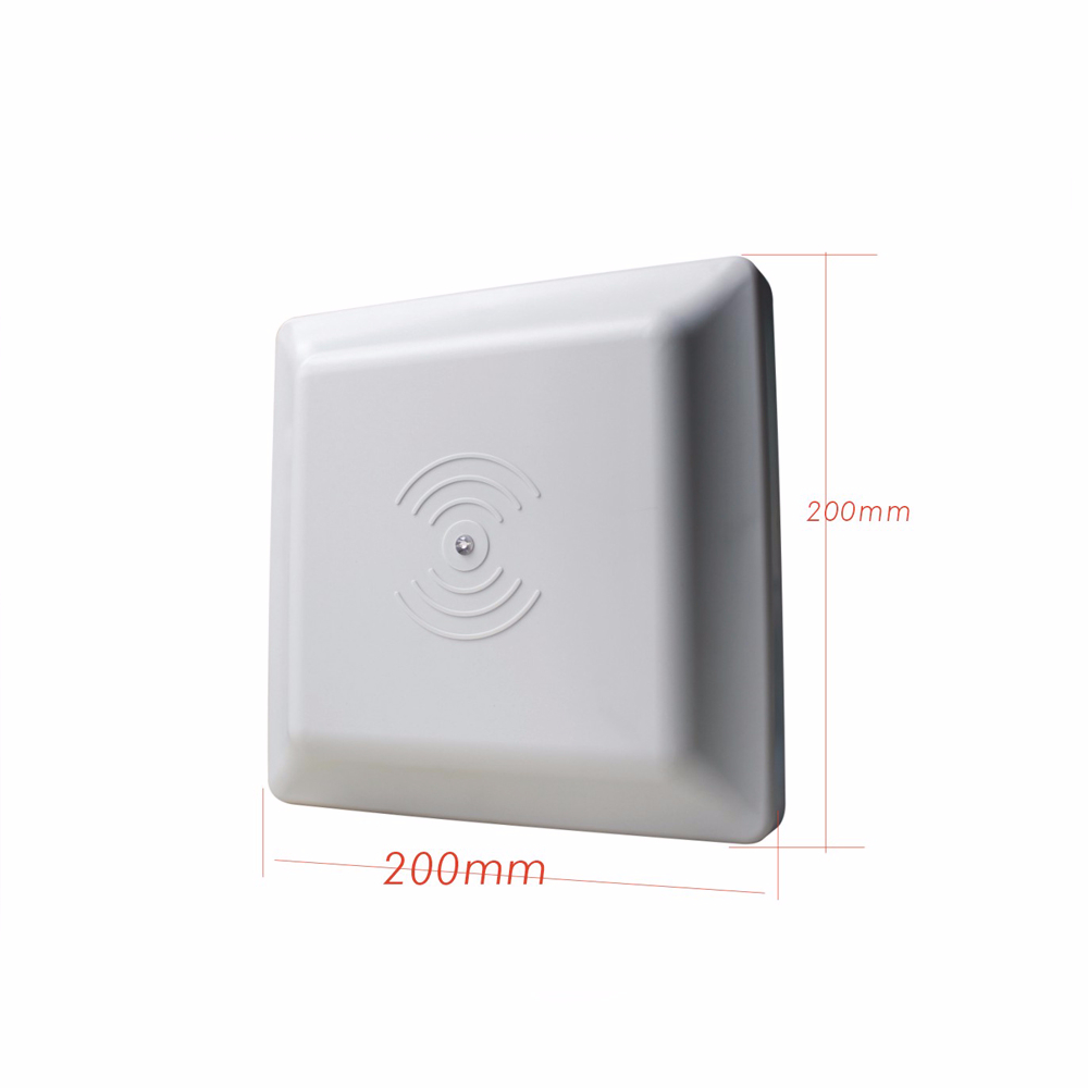Купить с кэшбэком UHF RFID card reader long range, 8dbi Antenna RS232/RS485/Wiegand 26 Reader 1-5M Integrative UHF RFID Reader +2pcs cards