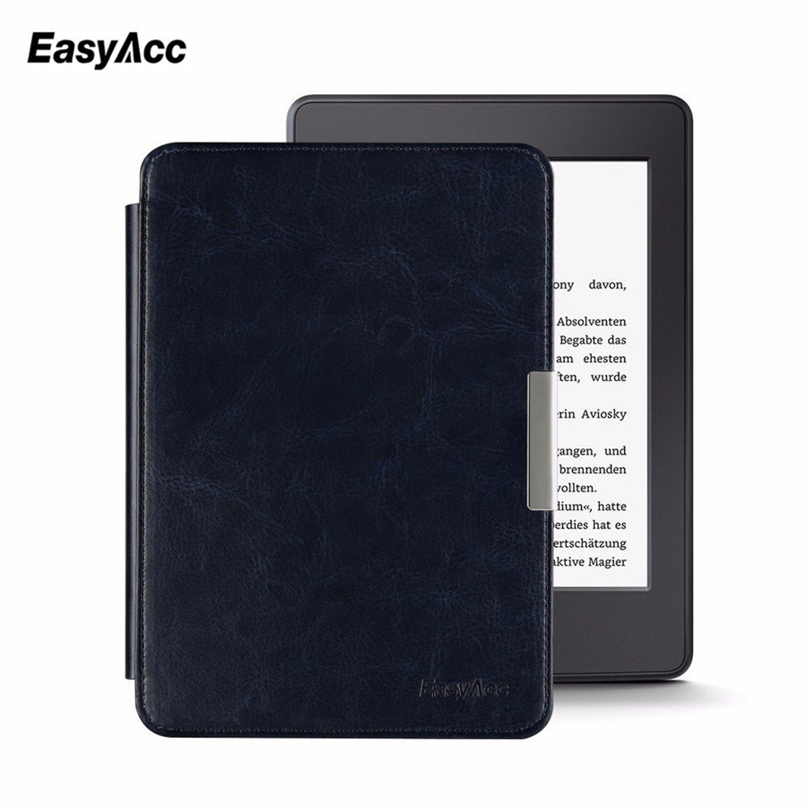Easyacc Magnetic Leather Case for Amazon Kindle Paperwhite 2015 6 inch E-Book Stand Cover Smart Auto Sleep/Wake cartoon painted flower owl for kindle paperwhite 1 2 3 case flip bracket stand pu cover for amazon kindle paperwhite 1 2 3 case