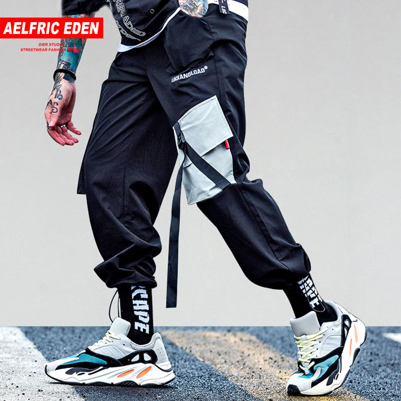 Aelfric Eden Pockets Cargo Pants Mens 2019 Casual Harem Joggers Baggy Harajuku Streetwear Hip Hop Fashion Tactical Ribbon Kj64 To Enjoy High Reputation In The International Market