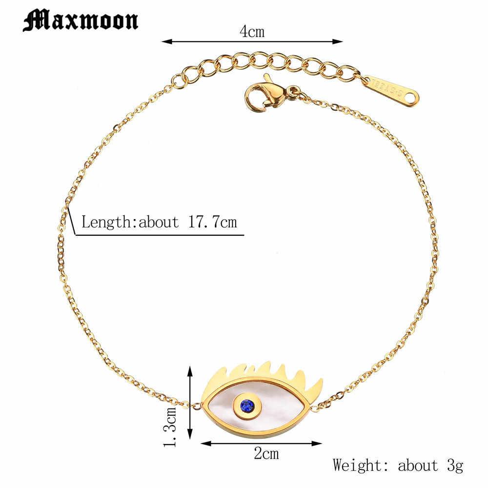 Maxmoon bonne chance charme main de Fatima Bracelet pour femmes dinde bijoux Hamsa mauvais œil Talisman Bracelet Femme Pulseras