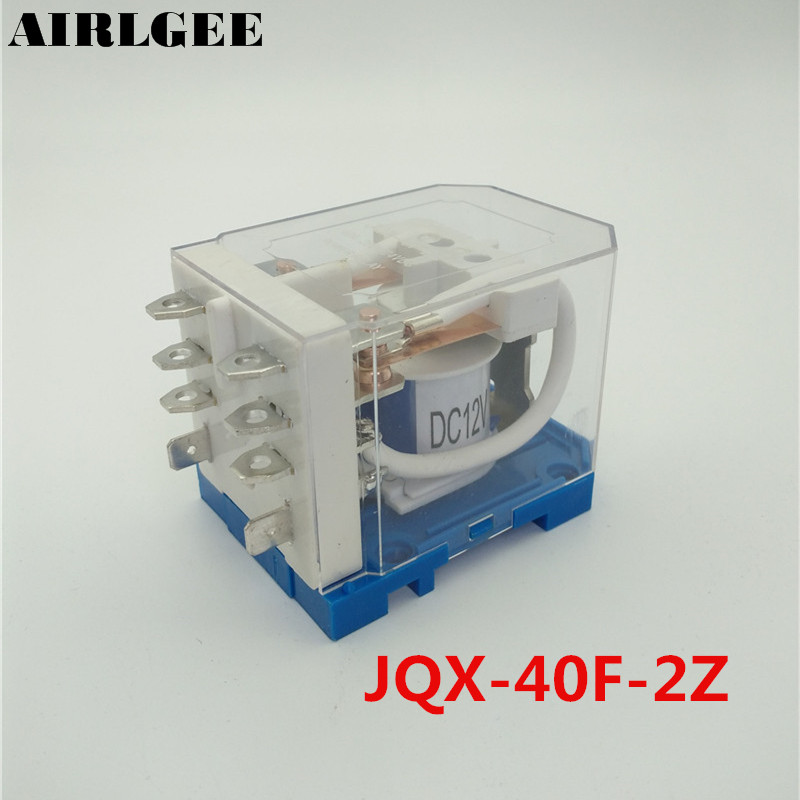 JQX-40F-2Z Coil DC 12V 8 Pin 40A DPDT Electronmagnetic Relay  Free Shipping jqx 60f 1z coil 60a dc 12v spdt general purpose electronmagnetic relay