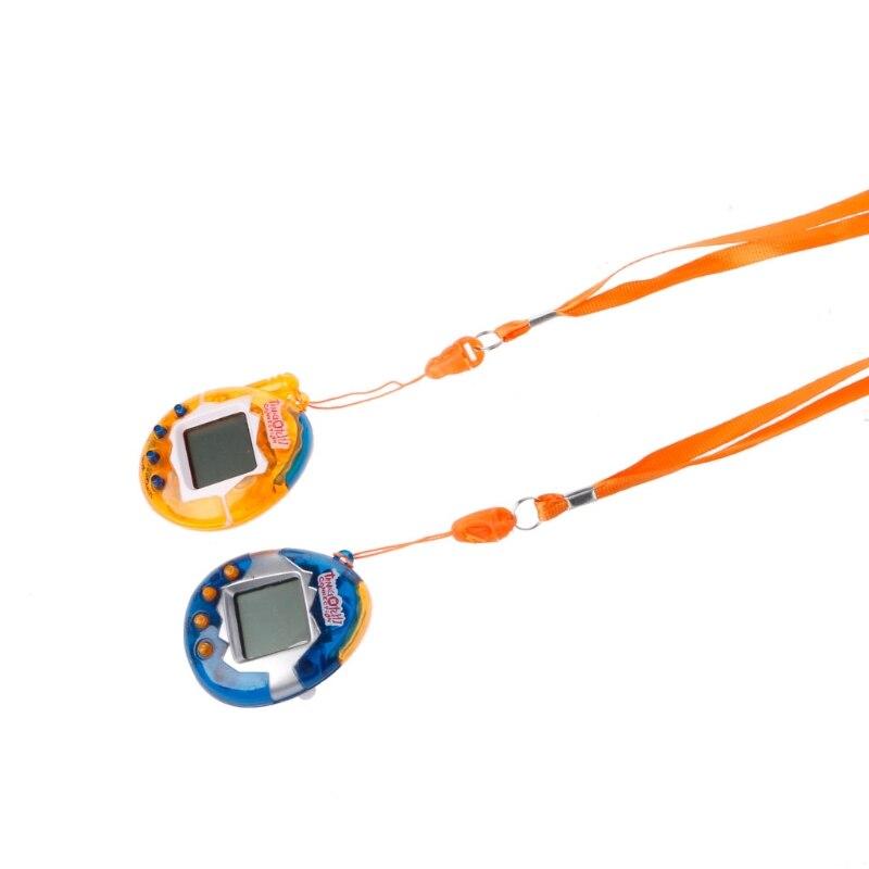 1 PC LCD Virtual Digital Pet Handheld Electronic Game Machine Toy With Lanyard