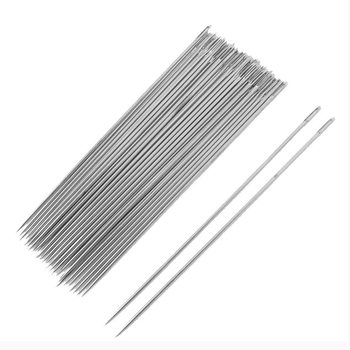 LHBL 30 Pcs Silver Tone Metal Sewing Needles 3.5″ Long Sewing Needles