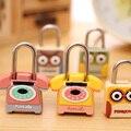 Armário de metal estudante dos desenhos animados pequenos cadeados moda bagagem fechamento da gaveta de bloqueio mini-sacos do fechamento diário